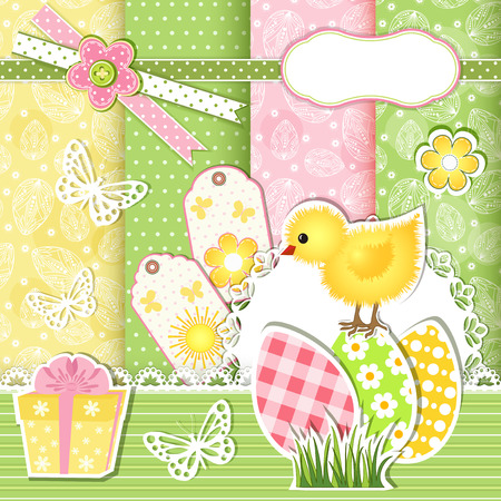 Easter collection for scrapbook  Vector illustration  Vector