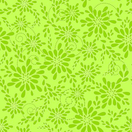 Green floral patterns  Vector illustration  Vector