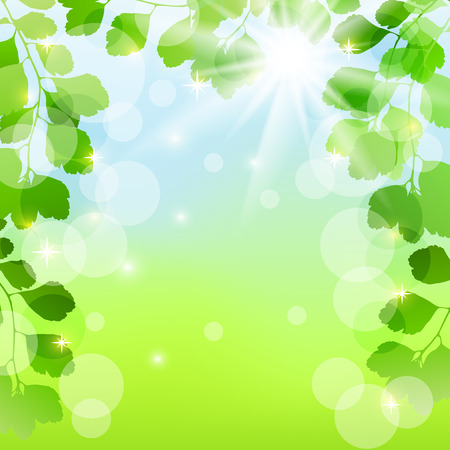 Abstract spring background with leaves  EPS10  Vector illustration  Vector