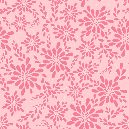 Pink floral patterns. Vector illustration. Vector