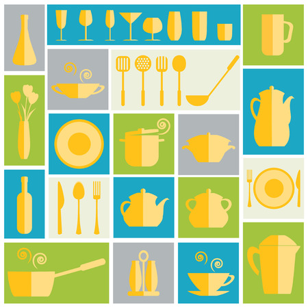 Kitchen flat icon. Vector illustration. Vector