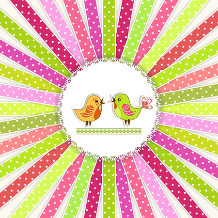 scrapbook frames: Collection colorful ribbon. Vector illustration.