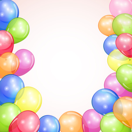 Holiday background with colorful balloons  Vector illustration   Vector