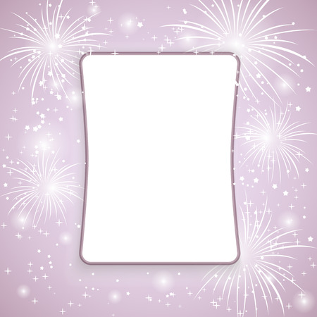 Fireworks background with place for your text  Vector  Vector