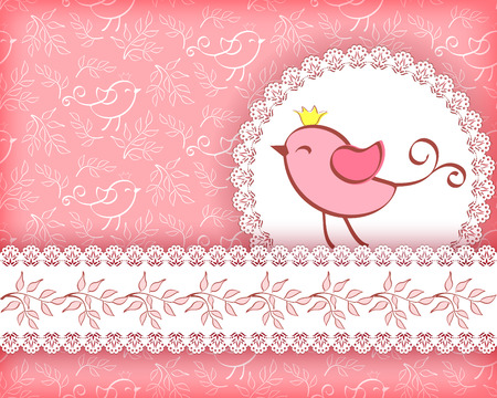 Greeting card with bird  Vector  Vector