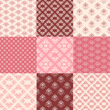 Collection floral pattern for scrapbook  Vector illustration  Vector