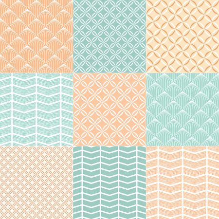 Collection pattern for scrapbook  Vector illustration  Vector
