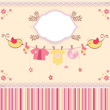 Baby shower card. Vector illustration. Vector