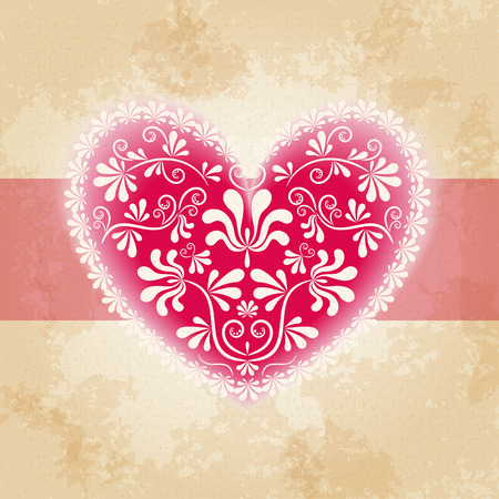 Valentine s background with heart  Vector