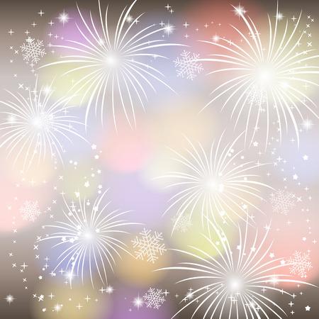 Fireworks colorful background. Vector illustration. Vector