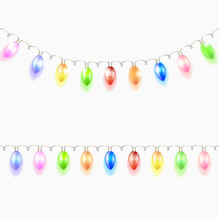 Christmas light garland. Vector illustration.