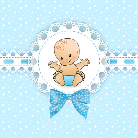 edges: Baby background with frame. Vector illustration.
