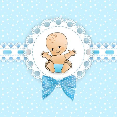 Baby-Hintergrund mit Rahmen. Vektor-Illustration.