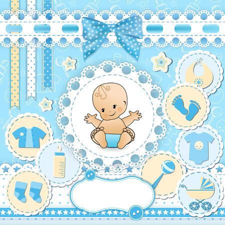 Establecer los elementos del diseño del bebé. Vector. Ilustración de vector
