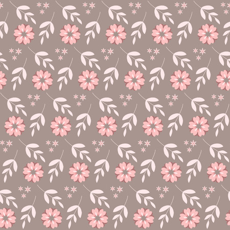 decoratively: Seamless with flowers. Vector illustration.