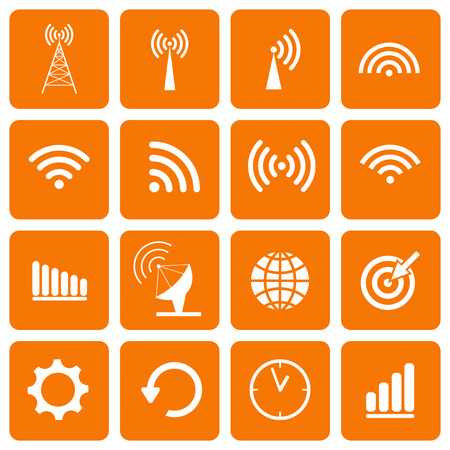 Collection icons for web and mobile apps. Vector illustration. Illustration