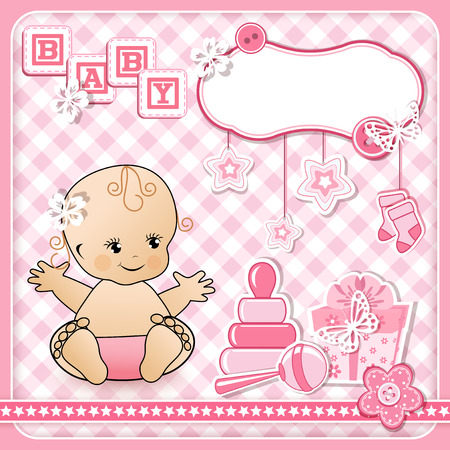 Set baby design elements. Vector illustraton. Illustration