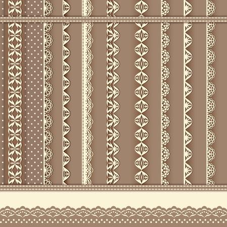 Collection design elements for scrapbook. Vector illustration. Vector