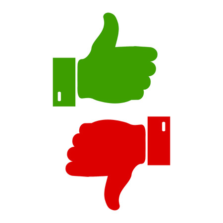 thumbs: Like and unlike symbol. Vector illustration. Illustration