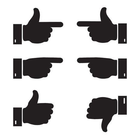 super cross: Set of business hand icon. Vector illustration.