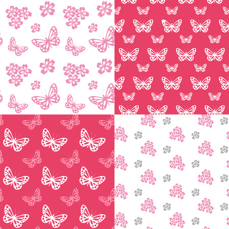 Seamless background with butterfly. Vector illustration. Vector