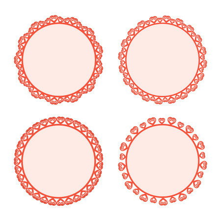 Collection lace frames. Vector illustration. Vector