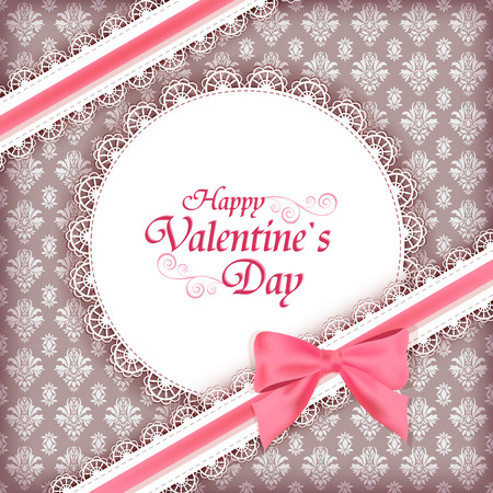 Greeteng card for Valentine day. Vector. Vector