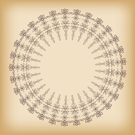 Background with round ornament. Vector. Vector