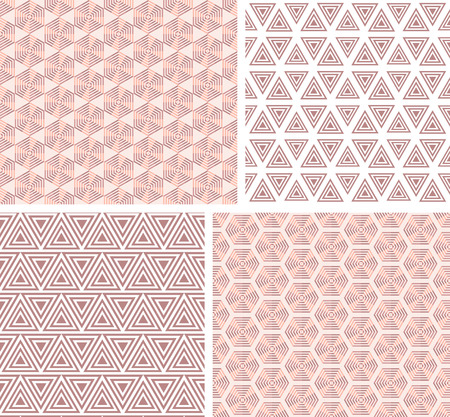squared: Collection geometric seamless  pattern. Vector illustration.