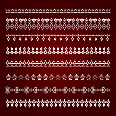lace edges: Collection borders for decor. Vector illustration.