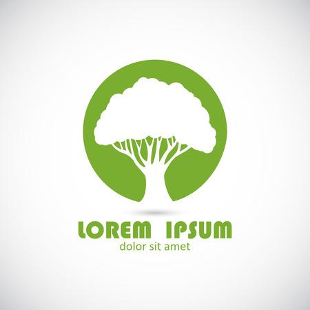 tree crown: Logo design template. logotype icon. Vector.