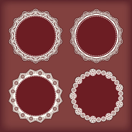 lace edges: Collection lace frames illustration. Illustration