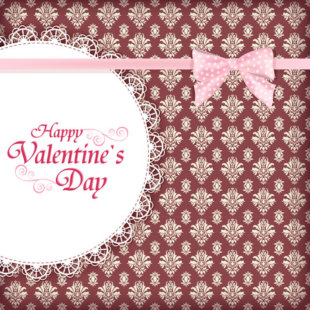 Greeting card for Valentine day Vector