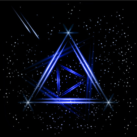 night background: Abstract triangle night background