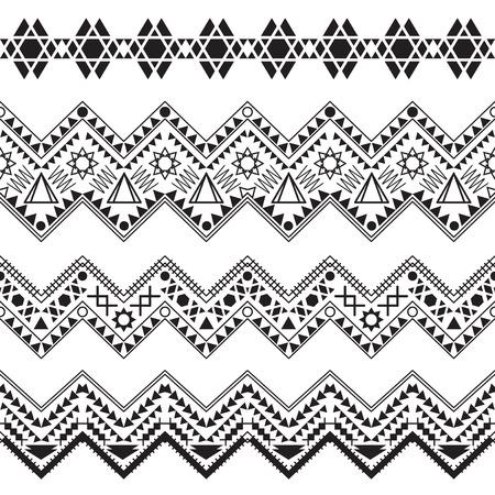 bordes decorativos: Fronteras tribales Collection. Ilustración del vector.
