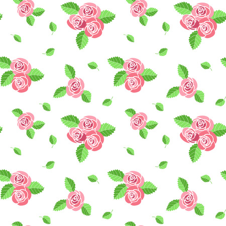 embroidery designs: Vector seamless floral pattern with roses.