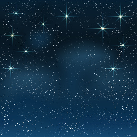 Night starry sky. Vector background .