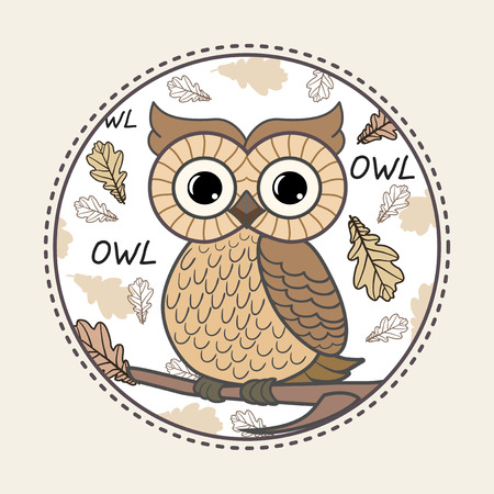 Cute owl stock photos royalty free business images cute owl vector print for children wear voltagebd Image collections