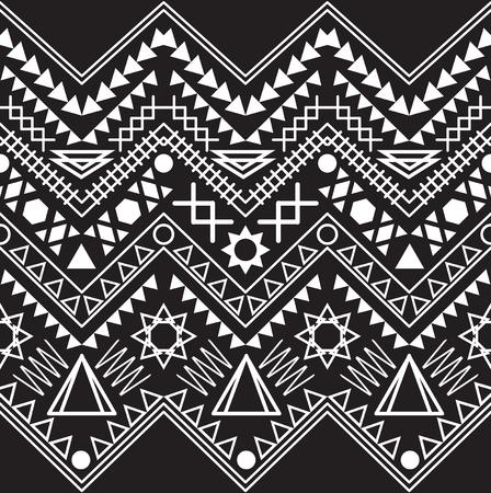 tribal: Collection tribal borders. Vector illustration. Illustration