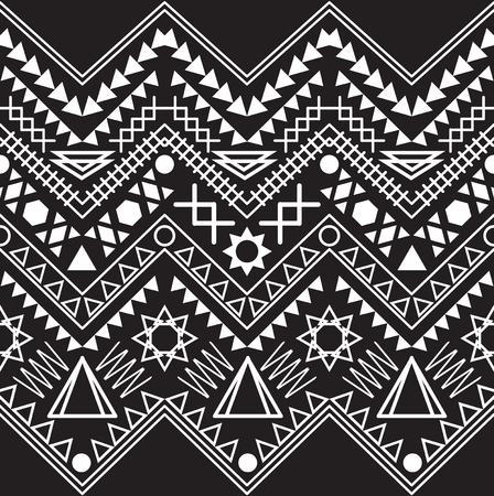 Collection tribal borders. Vector illustration. Illustration