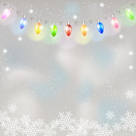 christmas lights: Christmas light garland. Vector illustration.