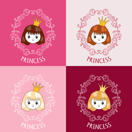 little princess: Cute little princess. Vector illustration.