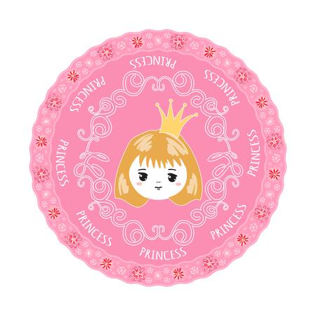Cute little princess. Vector illustration. Vektorové ilustrace
