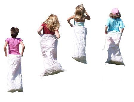 Sack Race girls