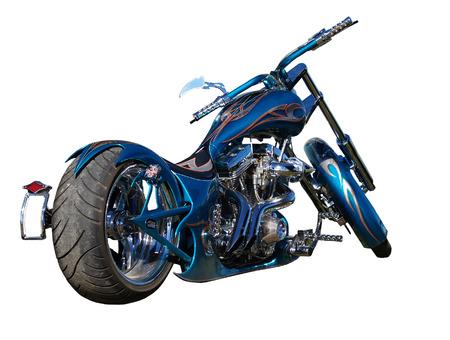 harley davidson motorcycle: A blue  motorbike