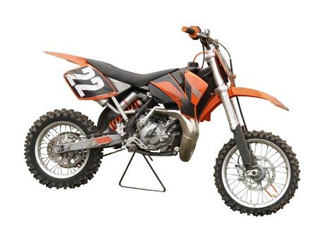 maschine: An Orange Motorcross bike isolated   Stock Photo