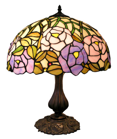 home accents: An Antique table lamp     Stock Photo