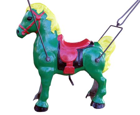 Little Merry-go-Round Horse  Stock Photo
