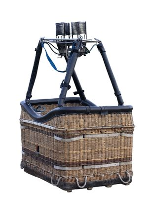 A Hot Air Balloon Basket isolated with clipping path