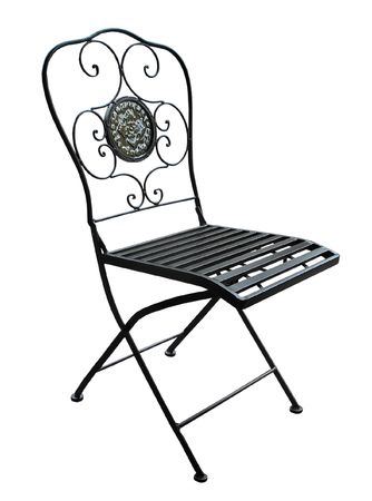 An Ornate Patio Chair with clipping path      photo